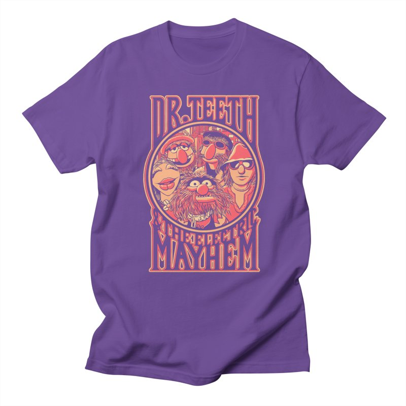 Electric Mayhem in Men's T-Shirt Purple by Victor Calahan