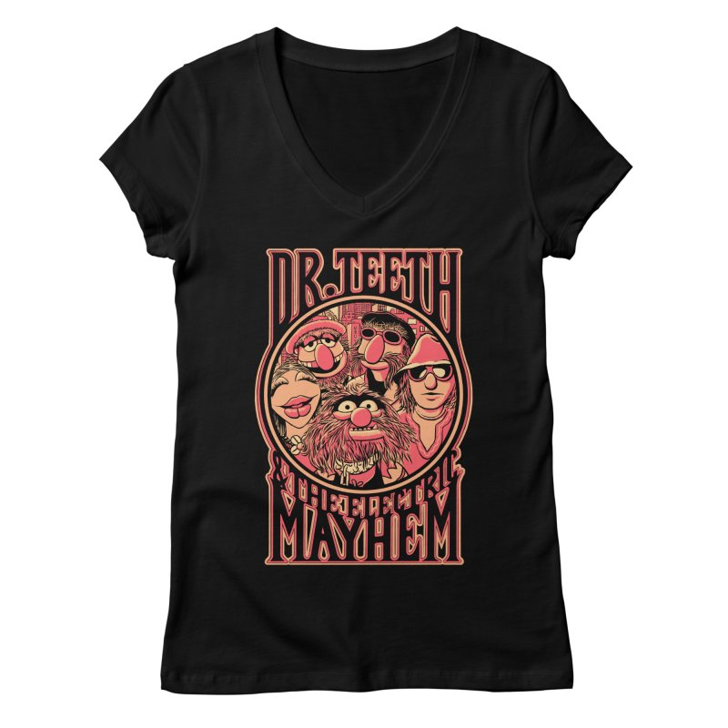 Electric Mayhem Women's V-Neck by Victor Calahan