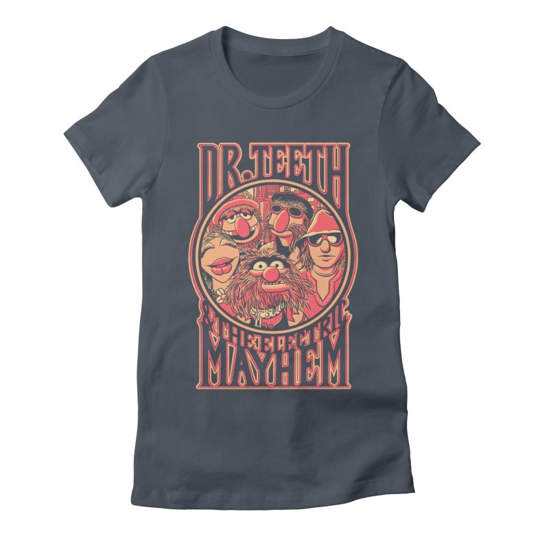 Electric Mayhem Women's Fitted T-Shirt by Victor Calahan