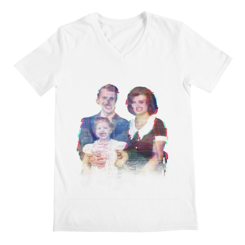 We're A Happy Family Men's V-Neck by Victor Calahan