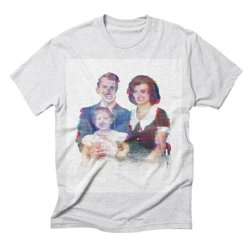 We're A Happy Family Men's Triblend T-shirt by Victor Calahan