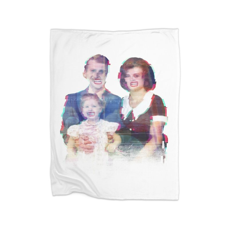 We're A Happy Family Home Fleece Blanket by Victor Calahan