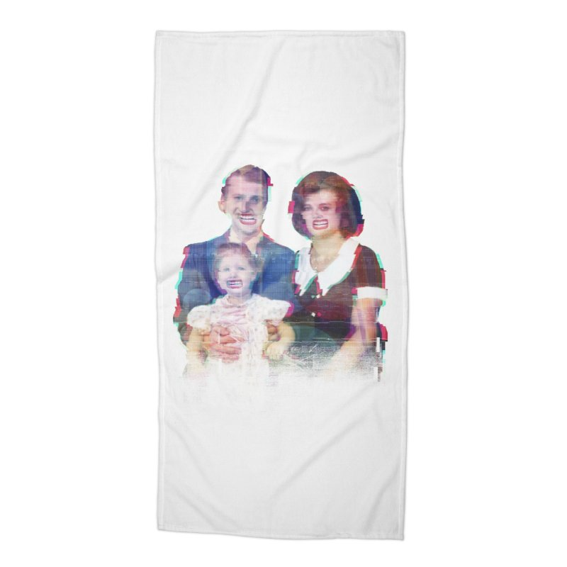 We're A Happy Family Accessories Beach Towel by Victor Calahan