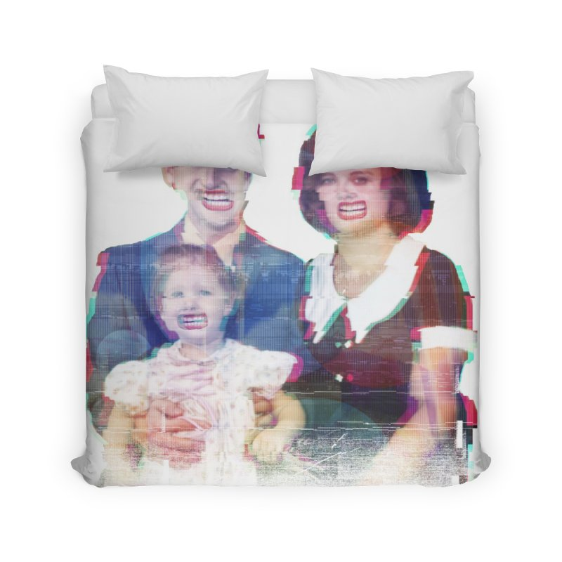 We're A Happy Family Home Duvet by Victor Calahan
