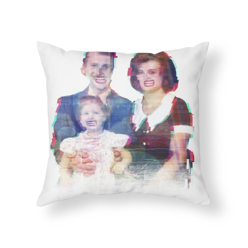 We're A Happy Family Home Throw Pillow by Victor Calahan