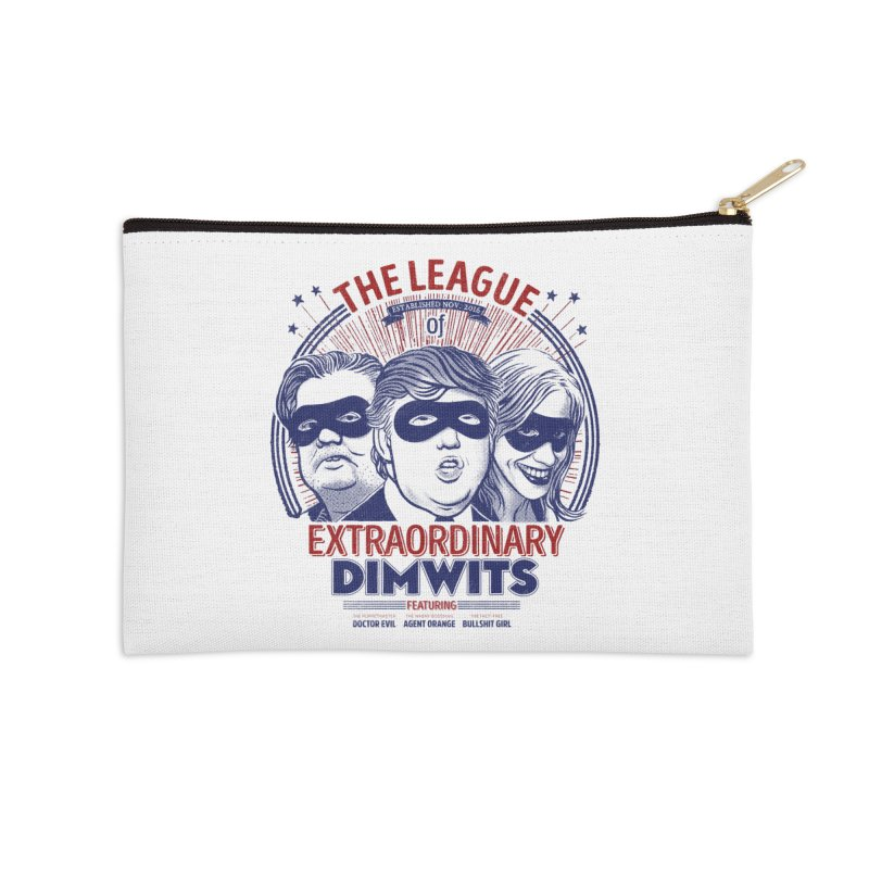 Extraordinary Dimwits Accessories Zip Pouch by Victor Calahan