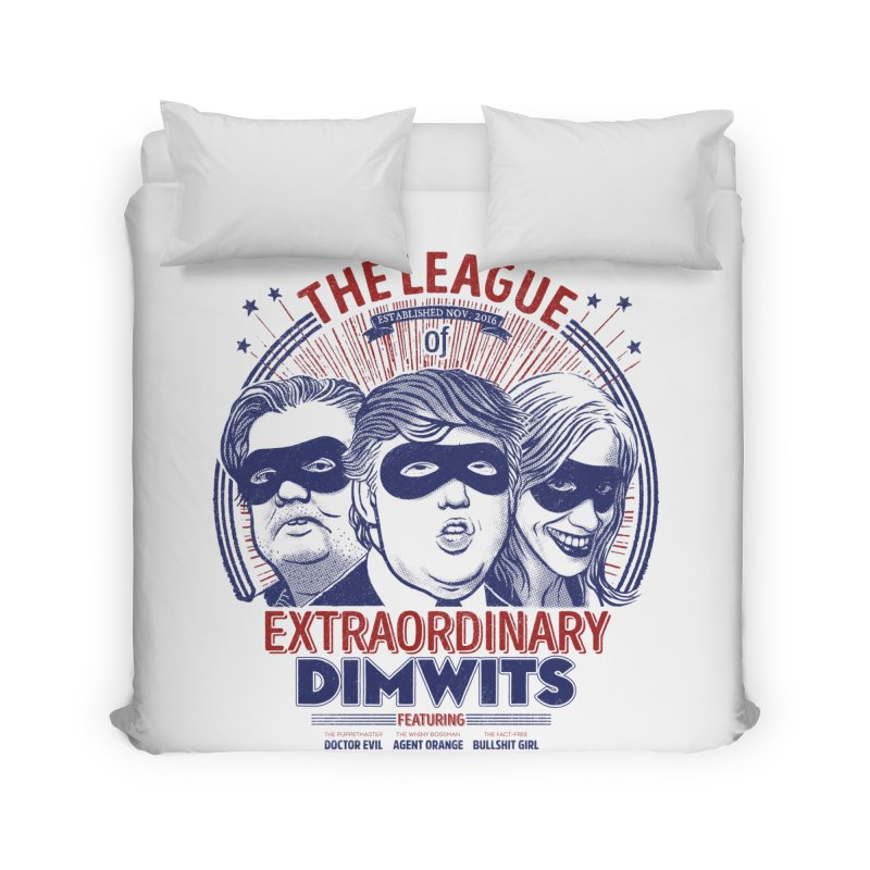 Extraordinary Dimwits Home Duvet by Victor Calahan