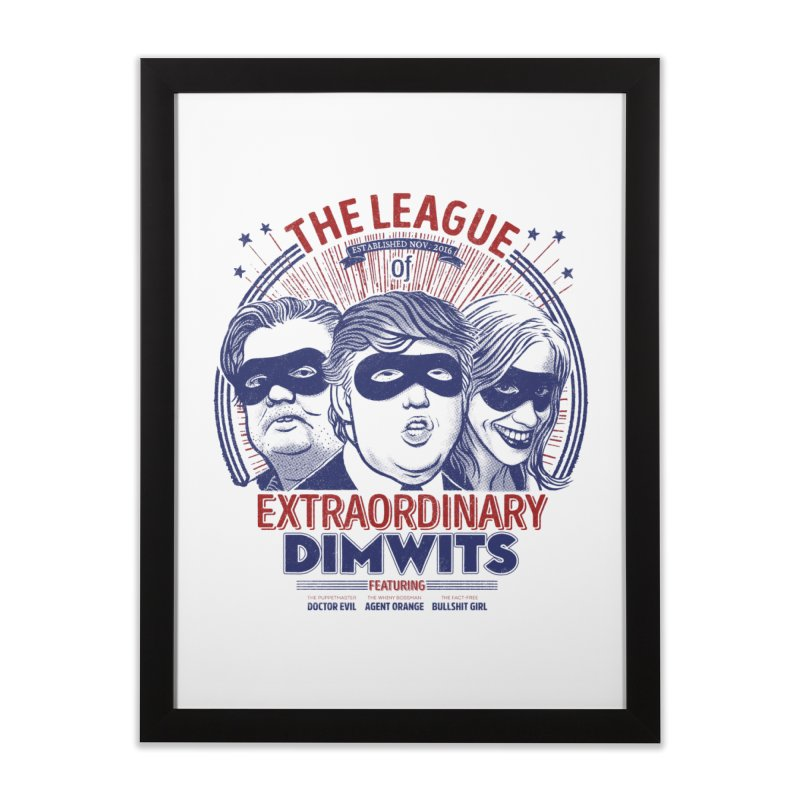 Extraordinary Dimwits Home Framed Fine Art Print by Victor Calahan