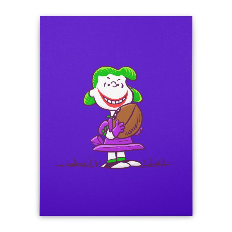 Joker Home Stretched Canvas by Victor Calahan
