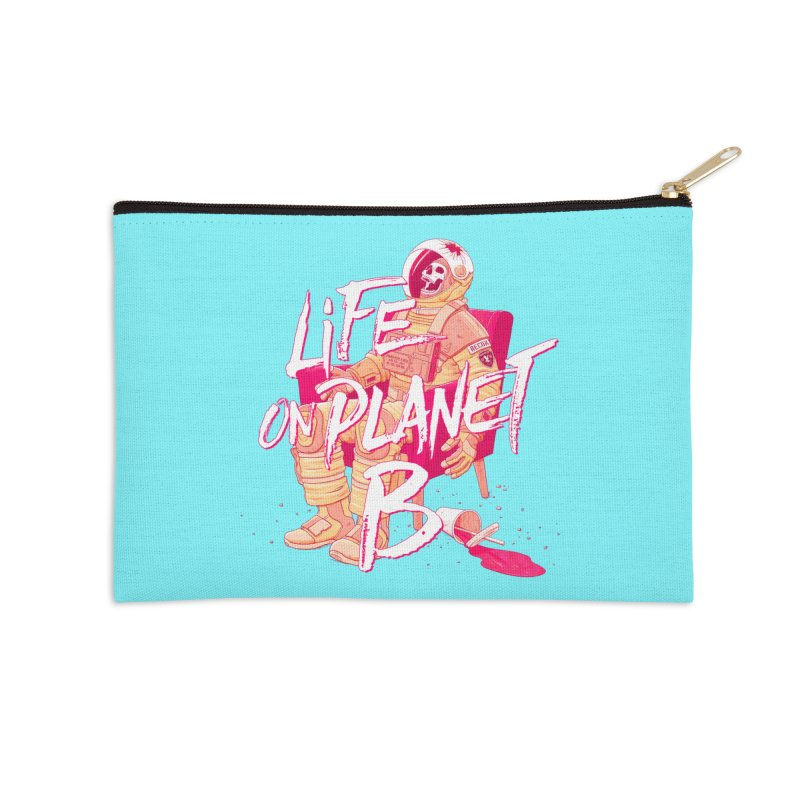 Life on Planet B Accessories Zip Pouch by Victor Calahan
