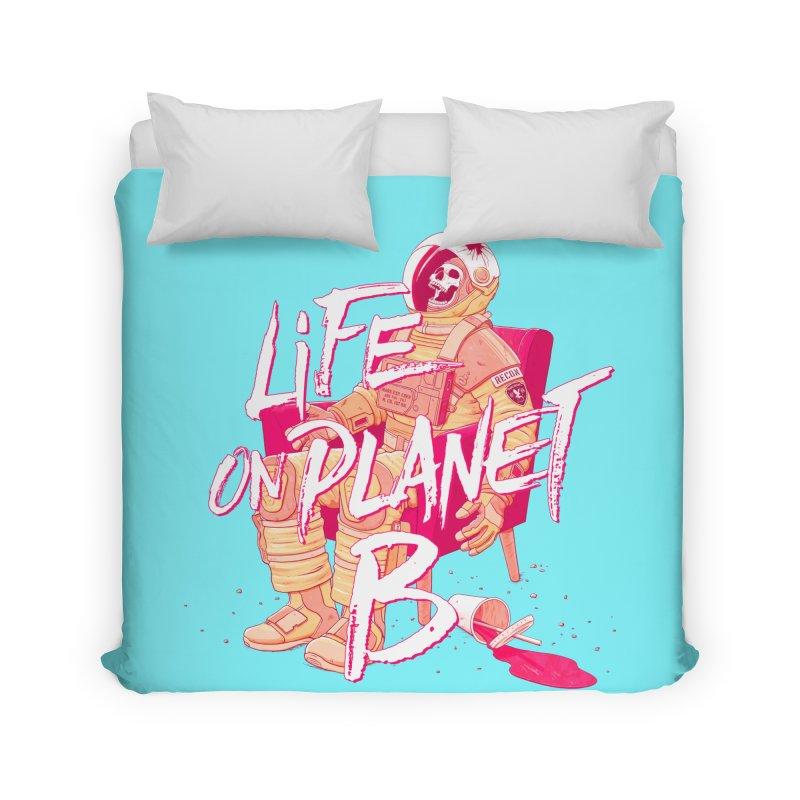 Life on Planet B Home Duvet by Victor Calahan