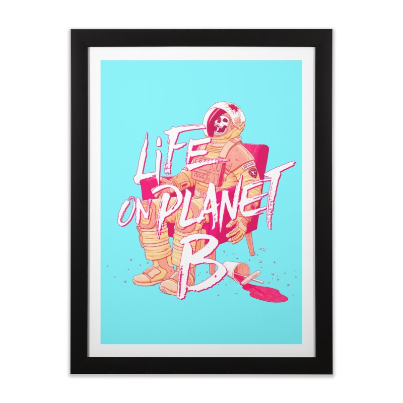 Life on Planet B Home Framed Fine Art Print by Victor Calahan