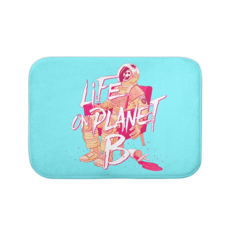 Life on Planet B Home Bath Mat by Victor Calahan