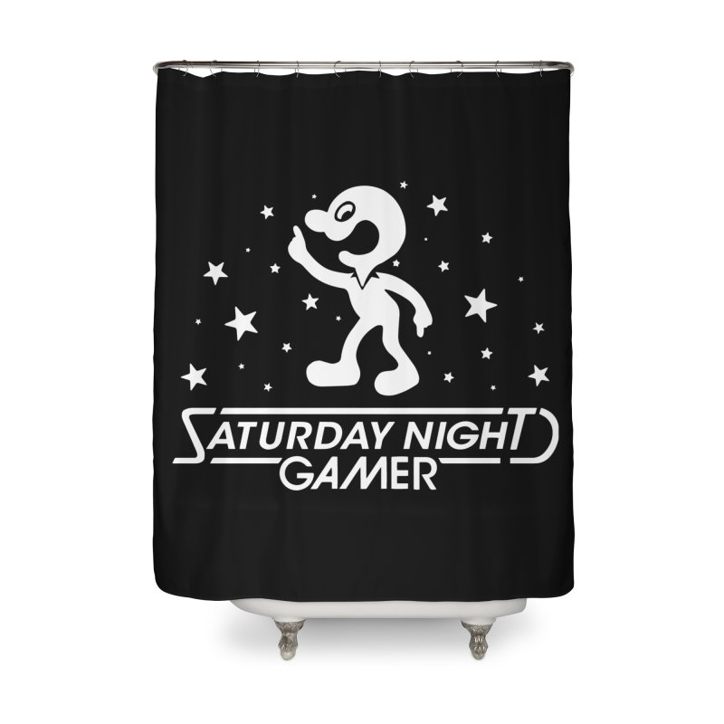 Saturday Night Gamer Home Shower Curtain by Victor Calahan