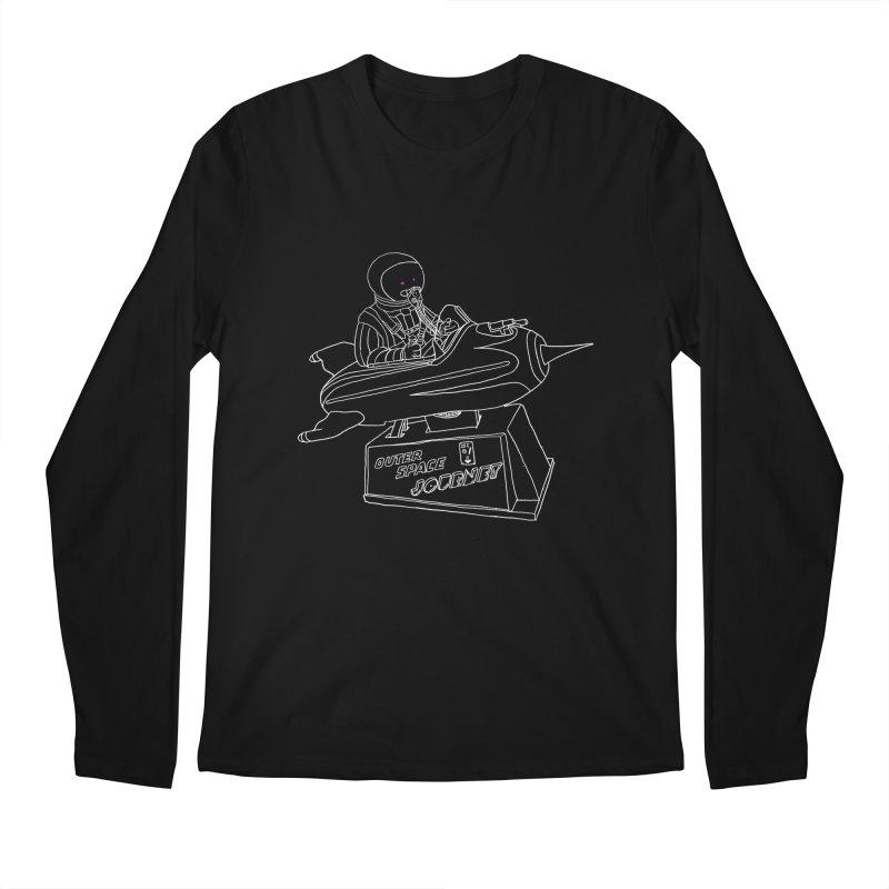 Space Journey Men's Longsleeve T-Shirt by Victor Calahan