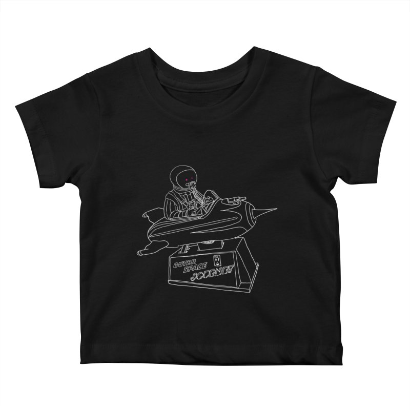 Space Journey Kids Baby T-Shirt by Victor Calahan