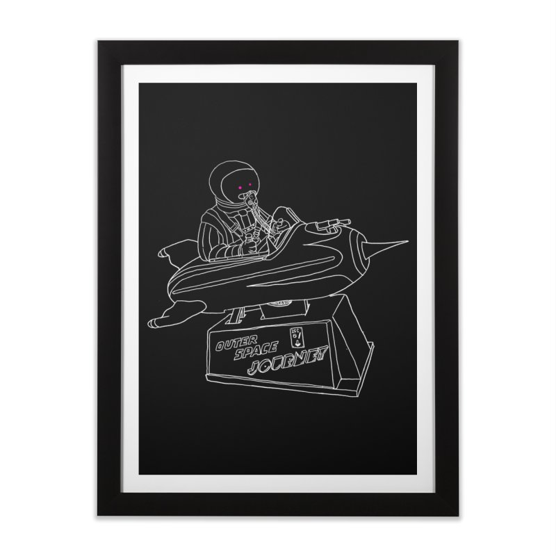 Space Journey Home Framed Fine Art Print by Victor Calahan