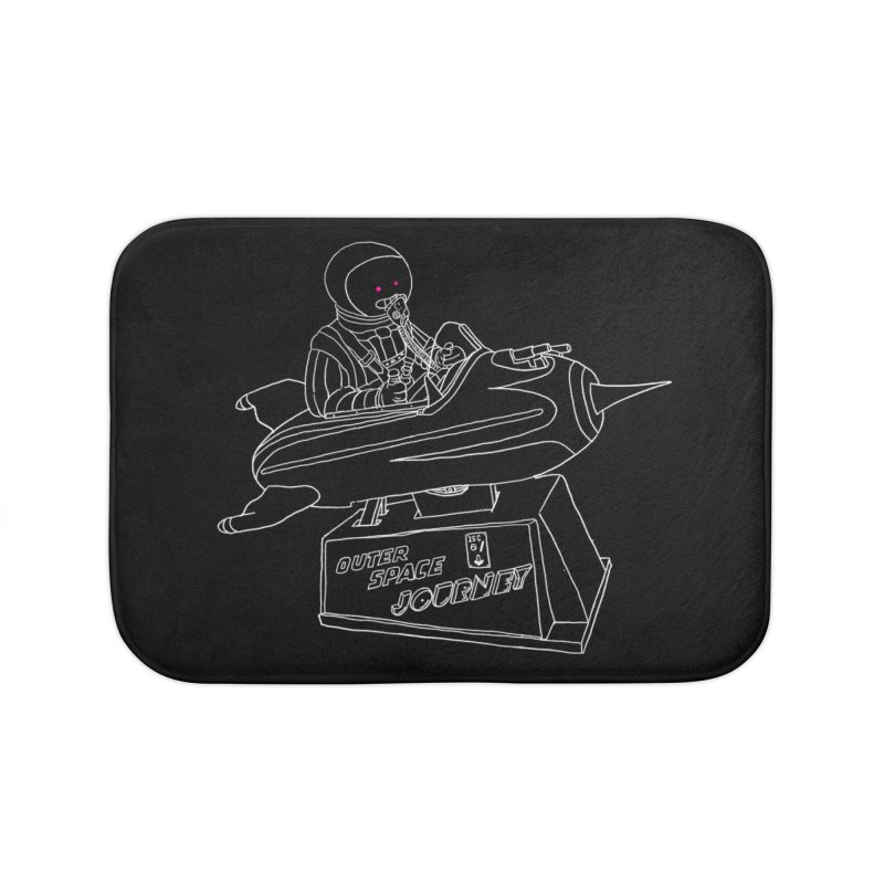 Space Journey Home Bath Mat by Victor Calahan