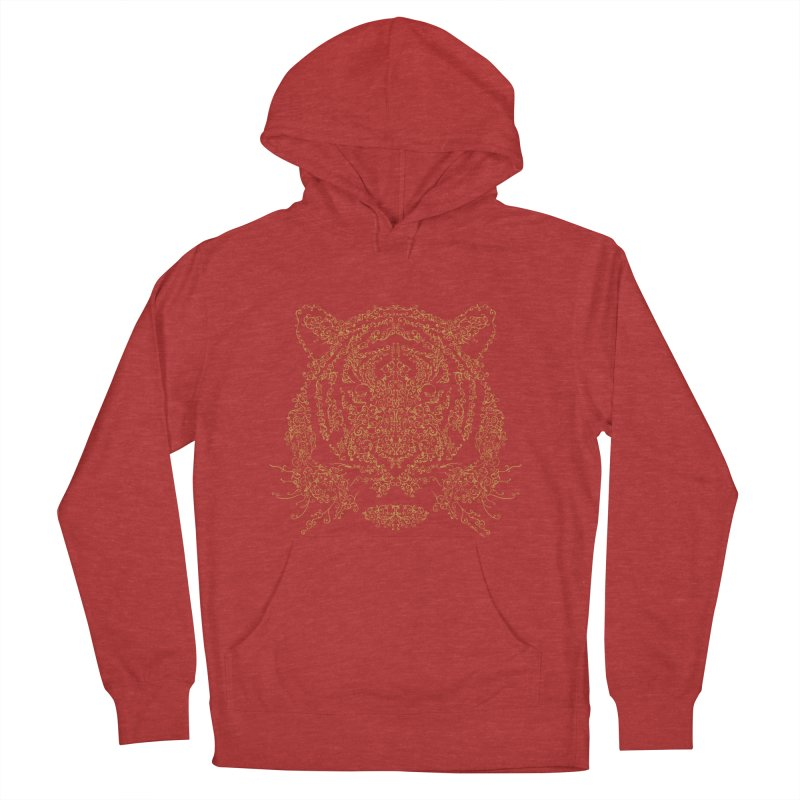 Ornamental Tiger Men's Pullover Hoody by Victor Calahan