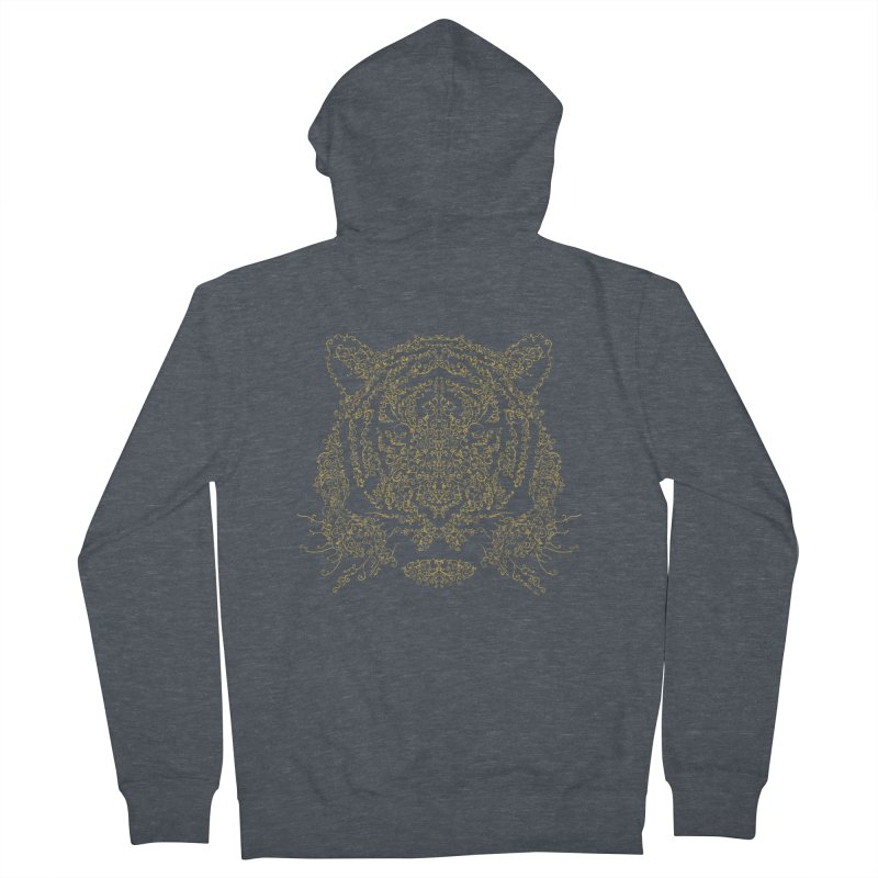 Ornamental Tiger Men's Zip-Up Hoody by Victor Calahan