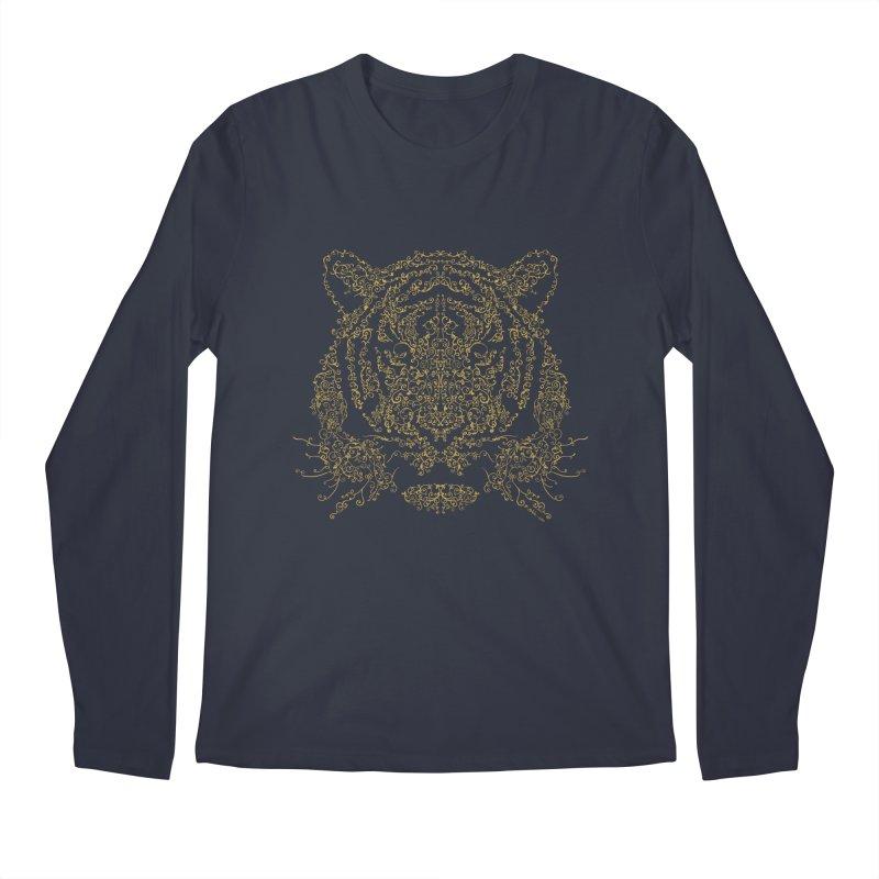 Ornamental Tiger Men's Longsleeve T-Shirt by Victor Calahan