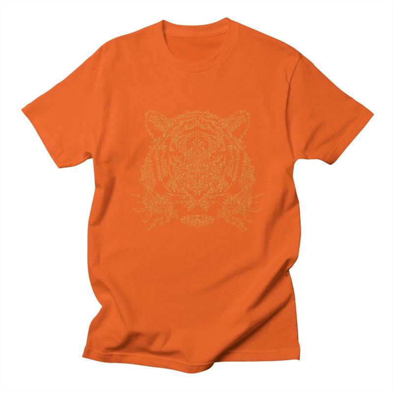 Ornamental Tiger Men's T-shirt by Victor Calahan