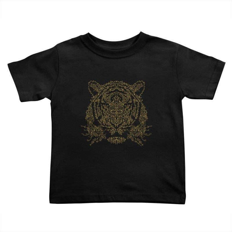 Ornamental Tiger Kids Toddler T-Shirt by Victor Calahan