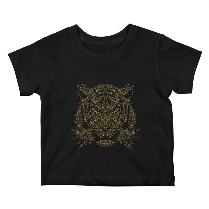Ornamental Tiger Kids Baby T-Shirt by Victor Calahan