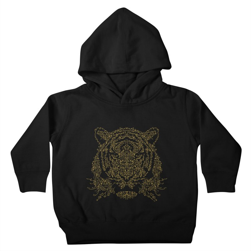 Ornamental Tiger Kids Toddler Pullover Hoody by Victor Calahan
