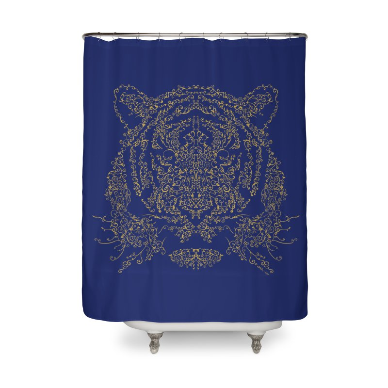 Ornamental Tiger Home Shower Curtain by Victor Calahan