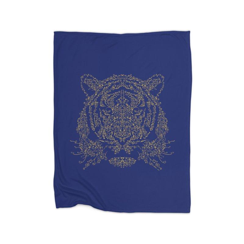 Ornamental Tiger Home Blanket by Victor Calahan