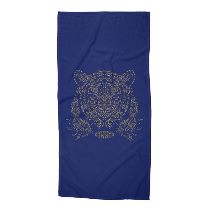 Ornamental Tiger Accessories Beach Towel by Victor Calahan