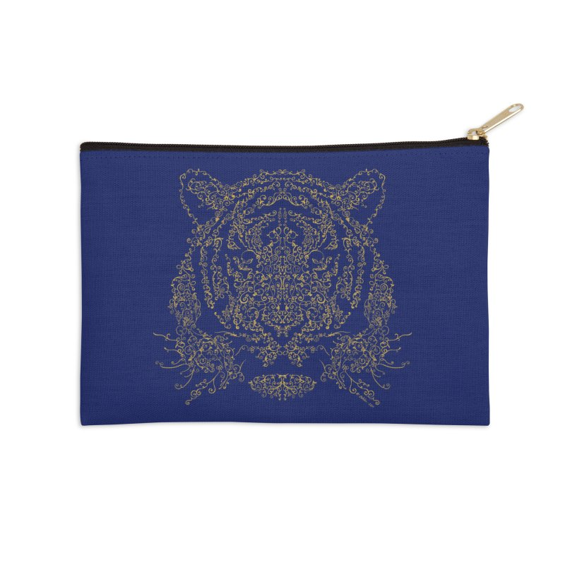 Ornamental Tiger Accessories Zip Pouch by Victor Calahan
