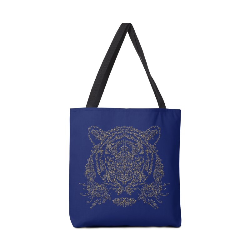 Ornamental Tiger Accessories Bag by Victor Calahan