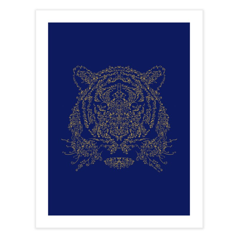 Ornamental Tiger Home Fine Art Print by Victor Calahan