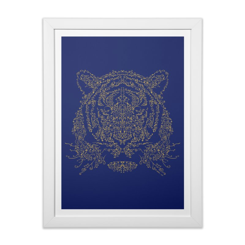 Ornamental Tiger Home Framed Fine Art Print by Victor Calahan