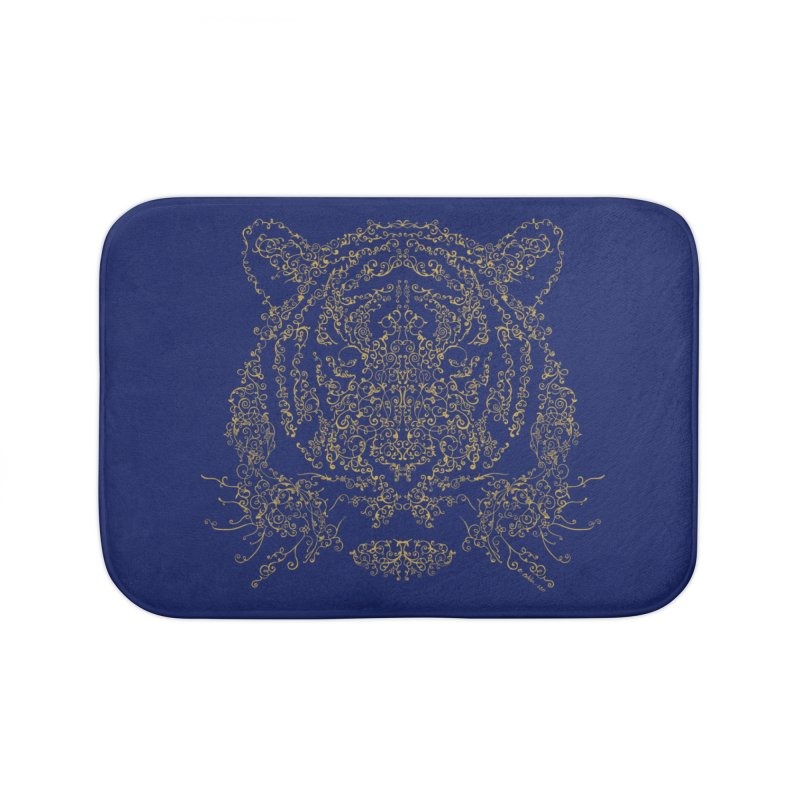 Ornamental Tiger Home Bath Mat by Victor Calahan
