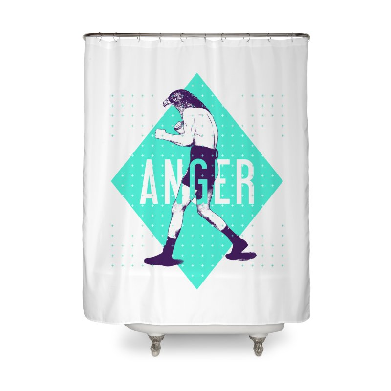 Anger Home Shower Curtain by Victor Calahan