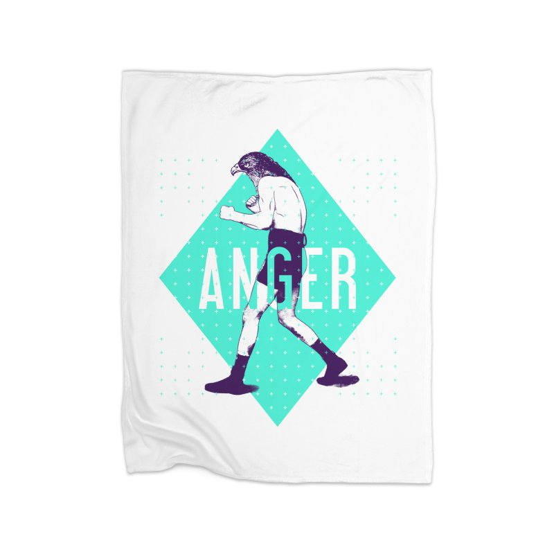 Anger Home Fleece Blanket by Victor Calahan