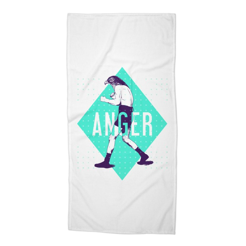 Anger Accessories Beach Towel by Victor Calahan