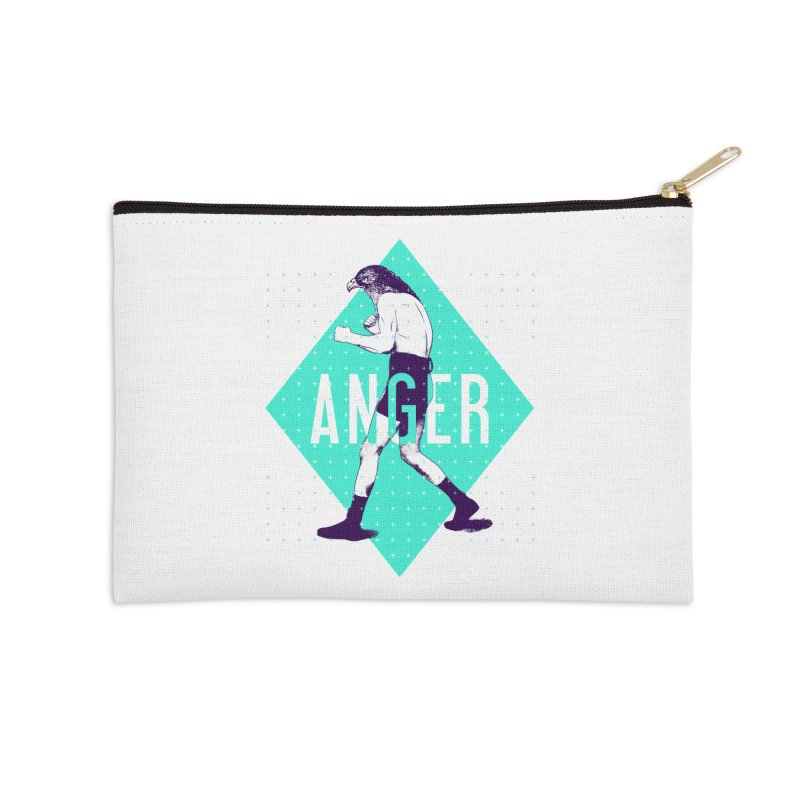 Anger Accessories Zip Pouch by Victor Calahan