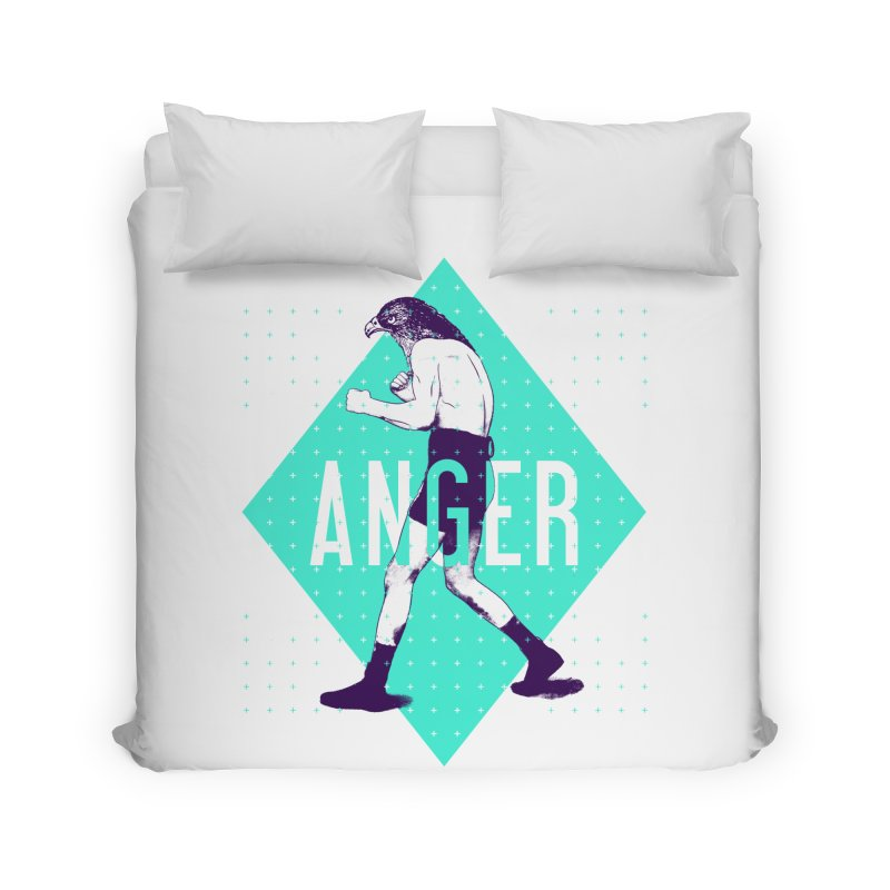 Anger Home Duvet by Victor Calahan