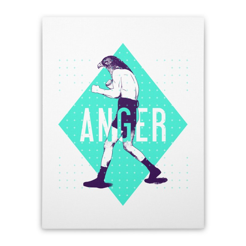 Anger Home Stretched Canvas by Victor Calahan