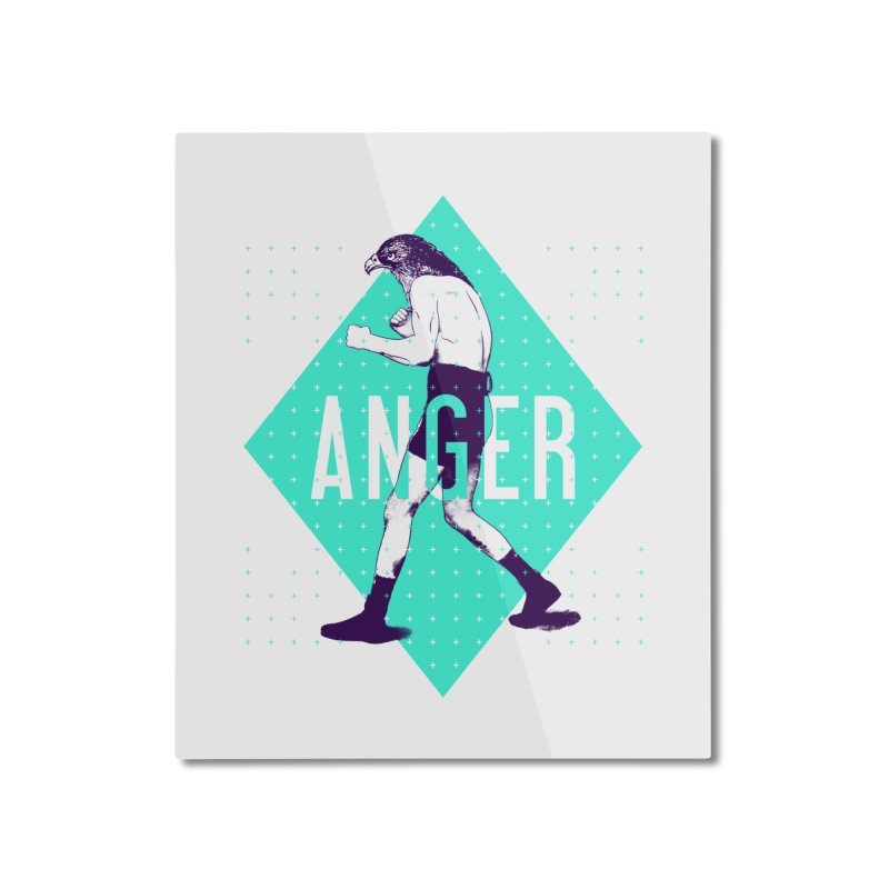 Anger Home Mounted Aluminum Print by Victor Calahan