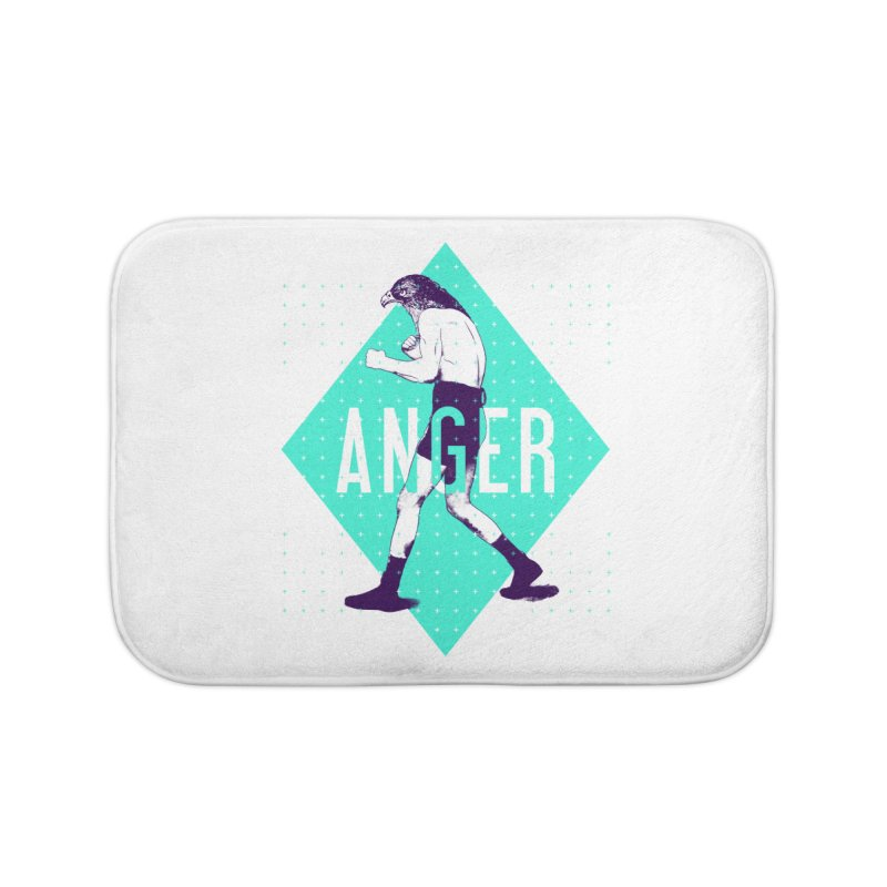 Anger Home Bath Mat by Victor Calahan