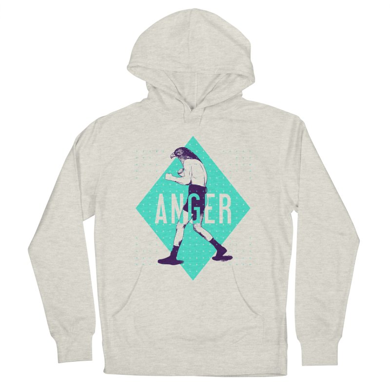 Anger Men's Pullover Hoody by Victor Calahan