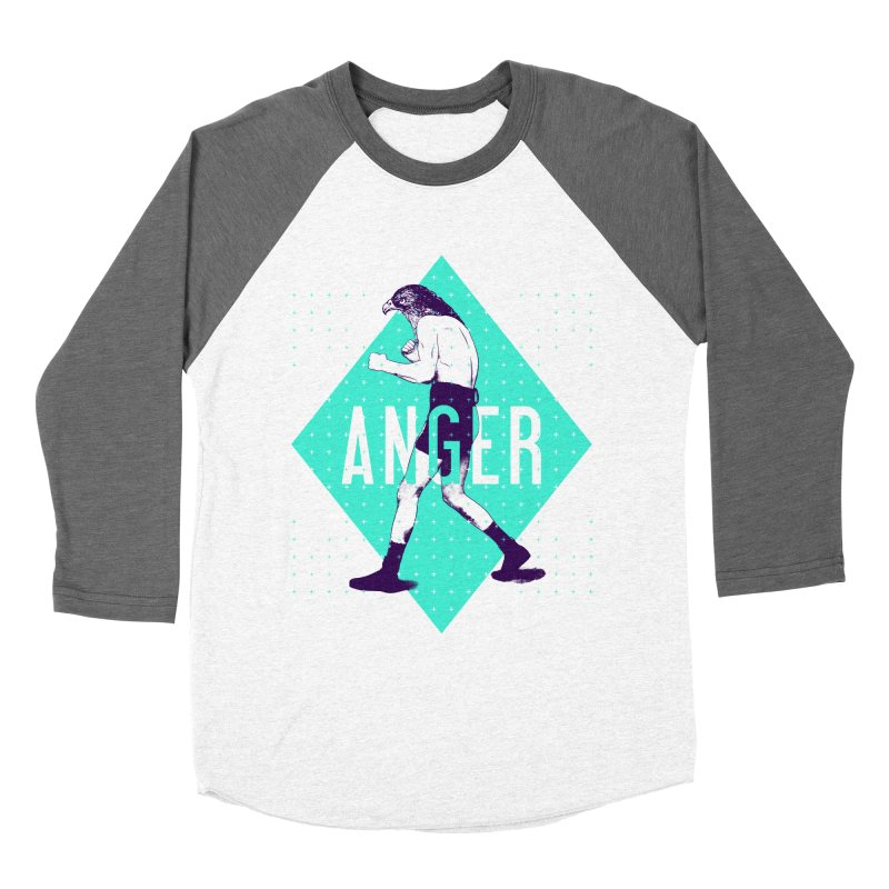 Anger Women's Baseball Triblend T-Shirt by Victor Calahan