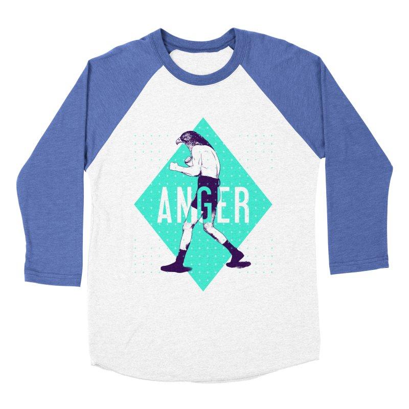 Anger Men's Baseball Triblend T-Shirt by Victor Calahan