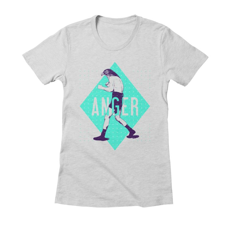 Anger Women's Fitted T-Shirt by Victor Calahan