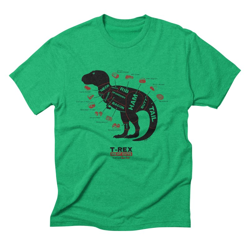 Dino Deli Men's Triblend T-Shirt by Victor Calahan
